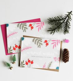 Warmest Wishes Holiday Cards, 6-Pack by Print Smitten on Scoutmob