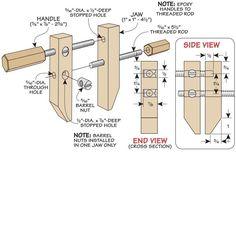 Mini wood clamps