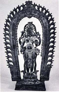 Standing Shiva Date:ca. 13th century Culture:India (Kerala) Medium:Bronze Dimensions:H. 17 in. (43.2 cm) Classification:Sculpture Credit Line:Gift of Margery and Harry Kahn, 1979