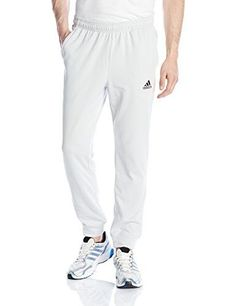 2d306906e77 adidas Men s Lightweight Tapered Jogger Pants inseam (size Front pockets  Drawcord on elastic waist Cuffed hems Slim fit