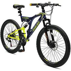 Cheap Merax Full Suspension 21 Speed Mountain Bike with Disc Brake (White . - Cheap Merax Full Suspension 21 Speed Mountain Bike with Disc Brake (White Orange) – - Best Cheap Mountain Bike, Mountain Biking, Mountain Bike Shoes, Mountain Bike Accessories, Cool Bike Accessories, Full Suspension, Suspension Design, Pocket Bike, Road Bike Women