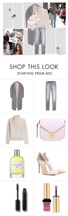 """Pretty lil things"" by rikka-alicia ❤ liked on Polyvore featuring Oris, Mother of Pearl, Karl Lagerfeld, Vanessa Seward, WALL, MCM, Bottega Veneta, Gianvito Rossi, Chanel and Yves Saint Laurent"