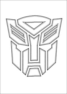 Transformer Coloring Pages More Transformers Cupcakes