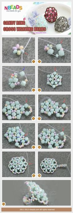 Candy Ring-Cross Weaving Beads �C Nbeads by clairehobby