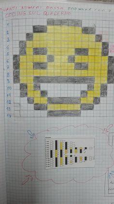 Classe Terza- Matematica- Ottobre-calcoli mentali-problemi- casa delle migliaia-addizioni in colonna entro il mille e oltre - Maestra Anita Emoji, Emoticon, Graph Paper Art, Code Art, Teaching Geography, Hama Beads, Pixel Art, Doodles, 1