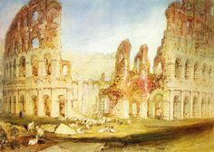 'Rom: Das Kolosseum', wasserfarbe von William Turner (1789-1862, United Kingdom)