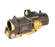 New 4x fixed dual purpose scope with mini red dot scope red dot sight for rifle hunting shooting