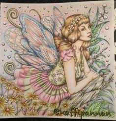 Enjoying the last hour of my birthday with some coloring  #fantasia #fantasiacoloringbook #nicholasfilbertchandrawienata #carandachepablo #posca #adultcoloringbook #adultcolouring #målarböckerförvuxna #målarbokförvuxna #mindfulness
