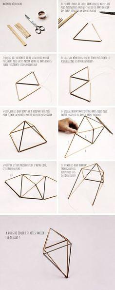 Hello ! A la veille d'un long week-end bien mérité, je vous propose aujourd'hui un DIY pour fabriquer vous même des suspensions en métal. Ces petits prismes sont vraiment l'idéal pour habiller vos murs et…