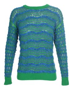 Fringed cotton knit jumper by KENZO
