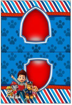 Cartão Agradecimento Patrulha Canina--- https://fazendoanossafesta.com.br/2015/05/patrulha-canina-kit-festa-infantil.html/