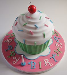 Love this giant cupcake cake!