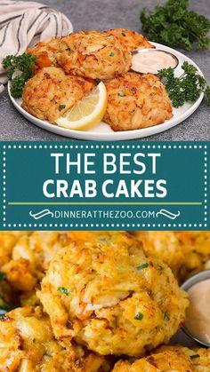 Crab Cake Recipes, Salmon Recipes, Fish Recipes, Seafood Recipes, Appetizer Recipes, Dinner Recipes, Cooking Recipes, Crab Cakes Recipe Best, Homemade Crab Cakes
