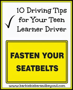 Tips for your Teen Learning to Drive