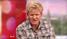 Gordon Ramsey getting wound up by presenter Bill Turnbull,