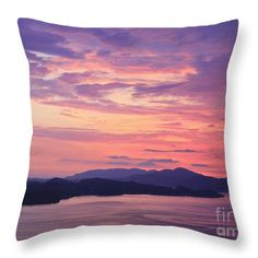 """Pastel Sunset Throw Pillow by Sverre Andreas Fekjan.  Our throw pillows are made from 100% cotton fabric and add a stylish statement to any room.  Pillows are available in sizes from 14"""" x 14"""" up to 26"""" x 26"""".  Each pillow is printed on both sides (same image) and includes a concealed zipper and removable insert (if selected) for easy cleaning."""