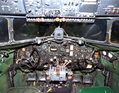 Detailed image of the Douglas C-47 (Skytrain / Dakota) Medium Transport Aircraft aircraft cockpit