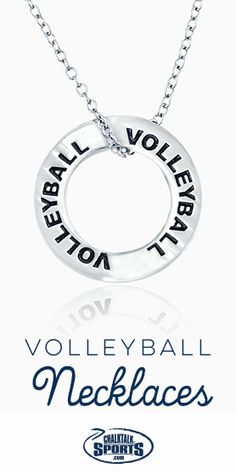 There isn't a cuter way to show your love for #volleyball off the court than with a volleyball necklace! They also make great volleyball gifts for the team!                                                                                                                                                                                 More