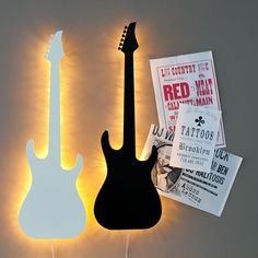 Guitar Wall Light, White