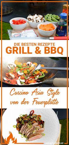 Wir haben uns wieder ein leckeres Hauptgericht auf der Feuerplatte zubereitet und zwar gab es diesmal ein saftiges Stück Cuscino im Asia Style mit knackigem Wok Gemüse. Ein schnelles und unkompliziertes Rezept für ein leckeres Gericht. Alles rund um diesen speziellen Cut vom Schwein und warum es sich bei diesem Ministeak um einen wahren Geheimtipp für den Grill handelt findest du hier anbei im Artikel. #aufgetischt #bbq #grillrezept #genuss #fleischrezept #feuerplatte #grillen #grillidee… Bbq Grill, Grilling, International Recipes, Creative Food, Cooking, Brunch Recipes, Top Recipes, Fast Recipes, Best Side Dishes