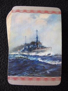 """VINTAGE 1930's GOODALL PACK OF PLAYING CARDS - BATTLESHIP - """"THE SCOUT"""""""