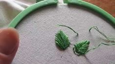 Learn Hand Embroidery with Me: Stitches, Part 3 (fishbone stitch and fre...