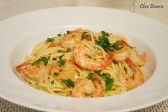 Espaguete com camarão e molho de gorgonzola « chezbianca