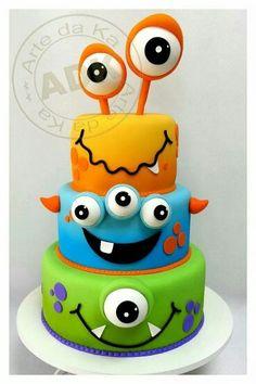 Monster cake.  What a cute idea!