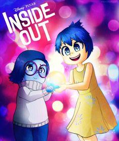 Joy and Sadness - Inside Out by NarumyNatsue