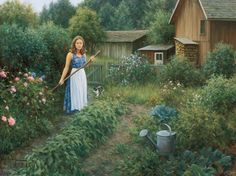 Here is forty of my favorite paintings of an artist that I greatly admire: Robert Duncan. Robert Duncan is a North American artist (USA) renowned for his pai. Utah, Country Art, Country Life, Country Living, Country Songs, Country Decor, Dream Garden, Garden Art, Robert Duncan Art