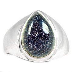 Blue Sun Star 925 Sterling Silver Ring Jewelry s.8 BSSR341