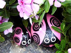 Momma Love and Baby Love garden rocks by WerockforKasity on Etsy, $35.00