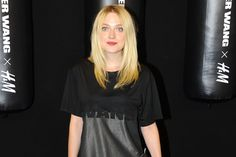 Dakota Fanning at the launch for Alexander Wang x H&M Collaboration