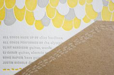 yellow grey and kraft letterpress