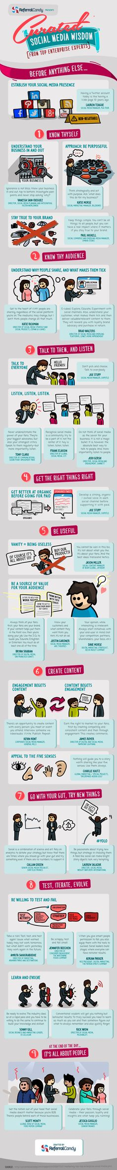 Social Media Advice From Those Actually Doing Social Media [INFOGRAPHIC]
