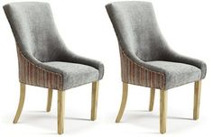 Richmond steel home dining living furniture x2 pair luxury elegant dining chairs