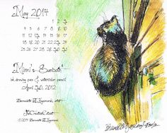 The Creative Cat - May Featured Artwork and Desktop Calendar: Mimi's Sunbath