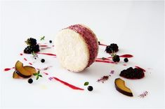 Damson Parfait with Olive Oil and Thyme Sable - the British Larder