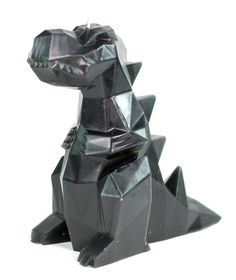 Rexy Black Dinosaur Candle