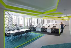 sculptural conference room divider   | via Fresh Work Spaces ~ Cityhaüs Design