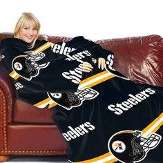 Pittsburgh Steelers Black Striped Comfy Throw  #UltimateTailgate #Fanatics