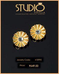 #Art #Skool #Wheel Of #Fortune #Stud #Earrings  #Price : Rs.649.00  #Jewelry_Code : 418995  #Material : Brass