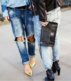 @Who What Wear - The great thing about boyfriend jeans? You can dress them up with a pair of polished heels or go completely casual and slip-on your favorite sneakers—either way, they look downright cool. To achieve this covetable look, we've rounded up our favorite relaxed and easygoing jeans. Feel free to shop and style as you see fit!  Image via Stockholm Street Style