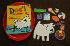 """Dog's Colorful Day"" self-directed activity from Just Montessori Montessori Activities, Color Activities, Kindergarten Activities, Toddler Activities, Preschool Activities, Storybook Crafts, Preschool Colors, Book Baskets, Creative Curriculum"
