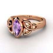 Caitlin Ring - 14K Rose Gold Ring with Amethyst - very, very, very pretty!!