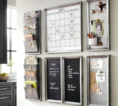 Build Your Own Family Command Center. Creating a command center that helps the family stay organized and keeps a system of incoming papers. Find the best family command center kitchen options. Family Organization Wall, Family Organizer, Home Office Organization, Organization Hacks, Organization Station, Mail Organizer Wall, Kitchen Calendar Organization, Kitchen Planner, Organizing Ideas For Office