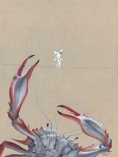 Fellone - Roberto Rizzo on Sunriseartists.com #Surrealism #Art #Painting