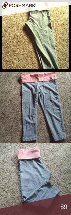 F21 yoga pants Forever 21 peach and gray yoga pants. Never worn....how sad, I know. f21 Pants Capris