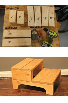 How to Make a Simple Step Stool DIY Step stool. Give your kid a boost at the bathroom sink. beginner woodworking project home decor The post How to Make a Simple Step Stool appeared first on Woodworking Diy. Woodworking For Kids, Beginner Woodworking Projects, Popular Woodworking, Woodworking Furniture, Woodworking Crafts, Diy Furniture, Woodworking Plans, Woodworking Shop, Woodworking Basics
