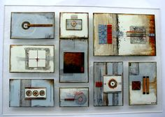 fused glass collage M Beneke